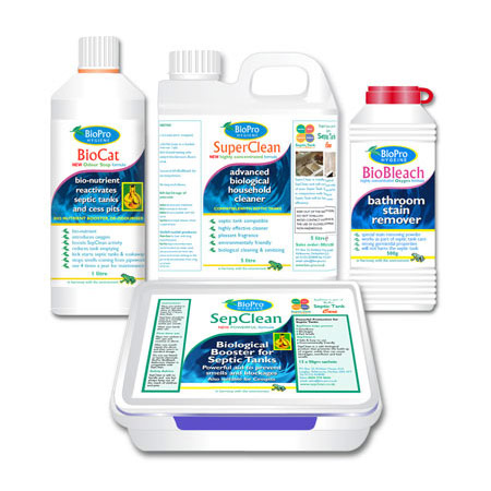 SepClean Premium Septic Tank Treatment Products Care Bundle